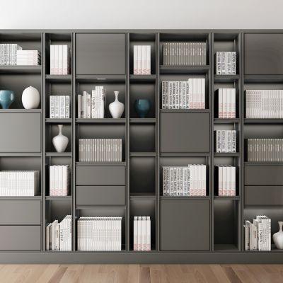 现代书籍书柜组合