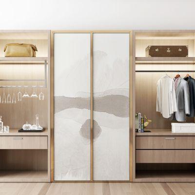 新中式现代衣柜衣服组合