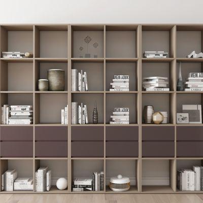现代实木书柜摆件书籍组合