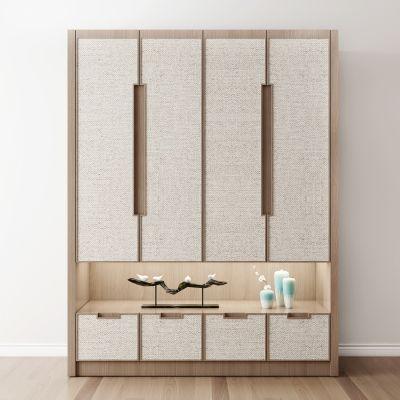 新中式实木衣柜摆件组合