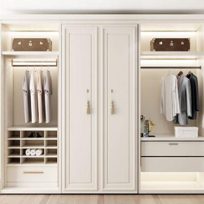 简欧白色衣柜摆件组合