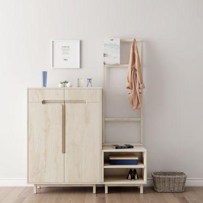 现代实木鞋柜3d模型