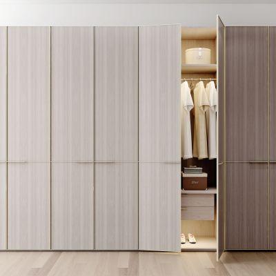 现代棕色衣柜