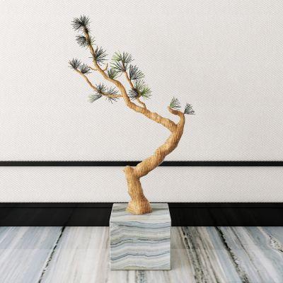 新中式植物盆栽