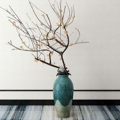 新中式花瓶花卉3D模型