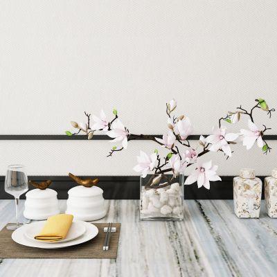 新中式餐具摆件组合