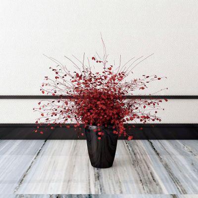 新中式花卉3D模型