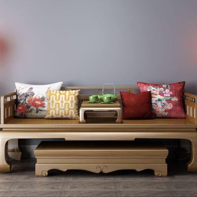 罗汉床,中式沙发