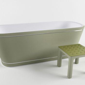 北欧绿色浴缸