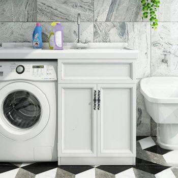 现代洗衣机洗手台组合