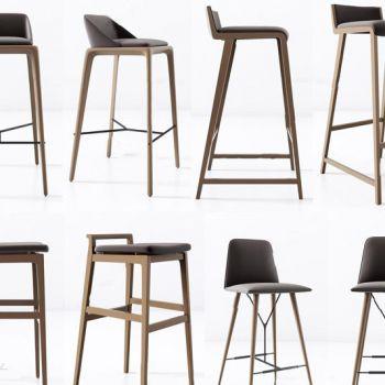 美式实木单人吧台椅组合