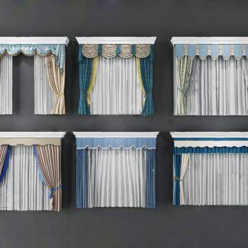 现代新中式窗帘组合