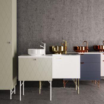 现代北欧卫浴台盆柜子组合