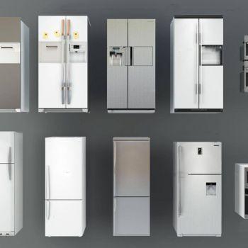 现代冰箱、烤箱组合