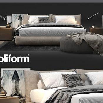 意大利Poliform现代风格床组合