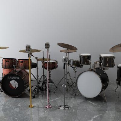 话筒,流行音乐鼓