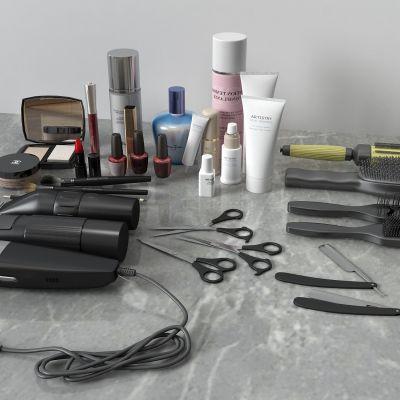 理发器,啫喱水,化妆品,剪刀,梳子