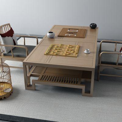 茶桌,围棋,象棋