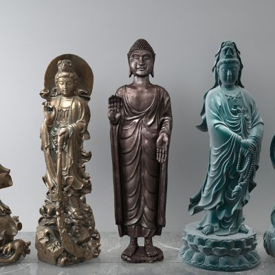 青铜观音塑像