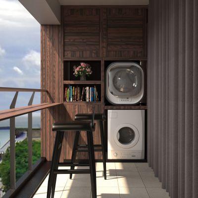 新中式阳台