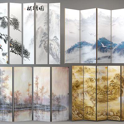 新中式屏风画组合