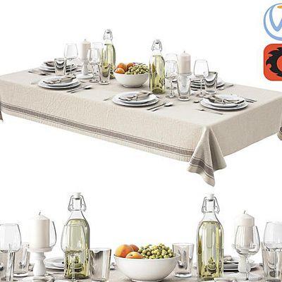 餐具盘子桌布