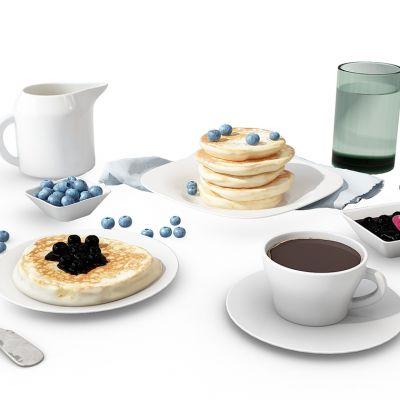 厨房用品组合咖啡杯食物