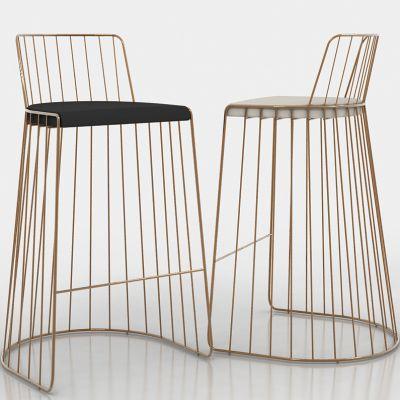 美式金属铁艺单人椅3D模型