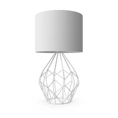 现代简约白色台灯