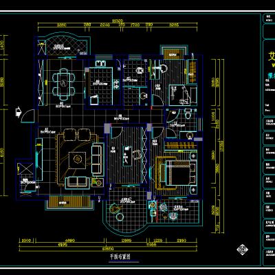 客餐厅空间-施工图CAD施工图