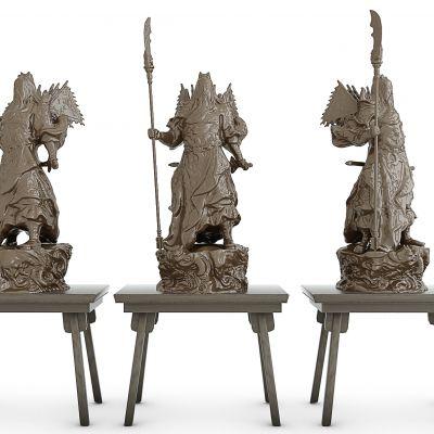 关公摆件雕塑