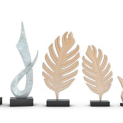 树叶摆件雕塑