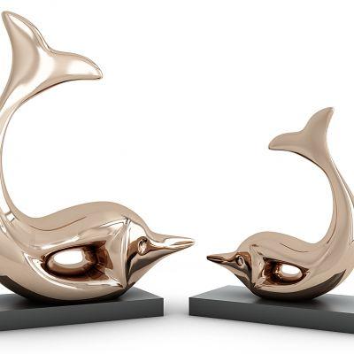 海豚摆件雕塑
