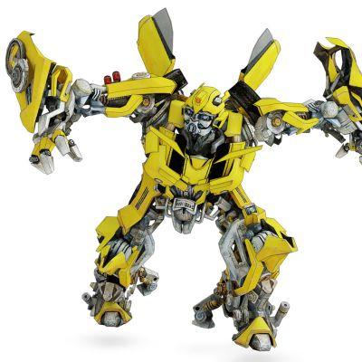 现代变形金刚大黄蜂机器人