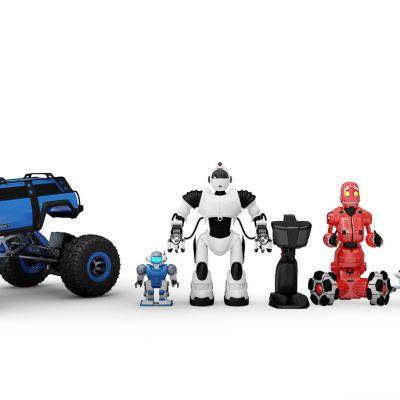 现代玩具车机器人组合