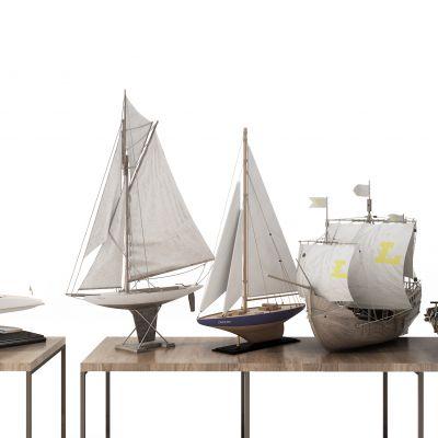 儿童玩具帆船模型