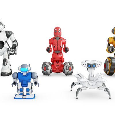 现代玩具机器人组合