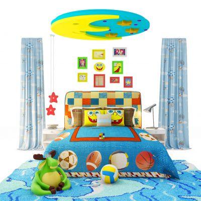 美式儿童房玩具组合