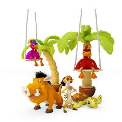现代乌龟椰树儿童玩具组合