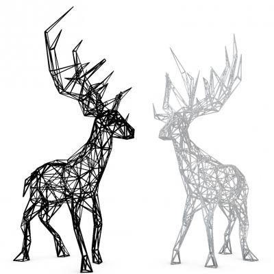 现代鹿雕塑