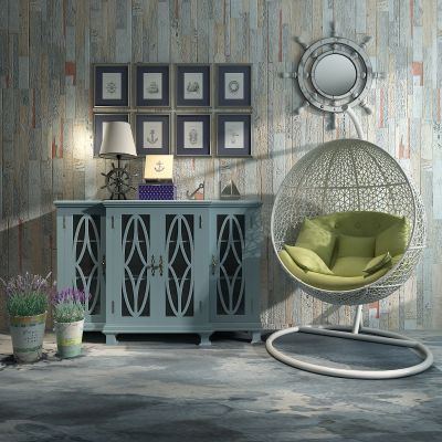 田园风格装饰柜,餐边柜,吊椅3D模型