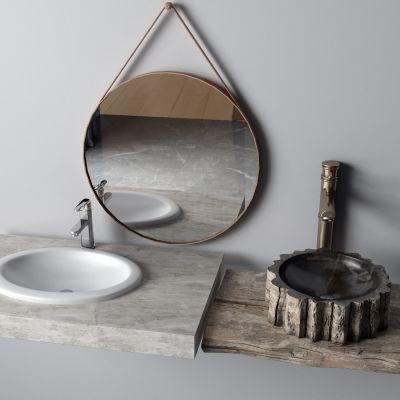 镜子,台盆,洗手盆,水龙头