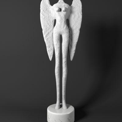 现代天使翅膀摆件