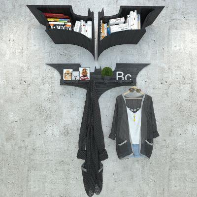 蝙蝠书架衣挂3D模型