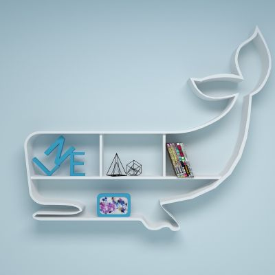 鲸鱼书架3D模型