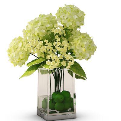 现代玻璃花瓶插花组合