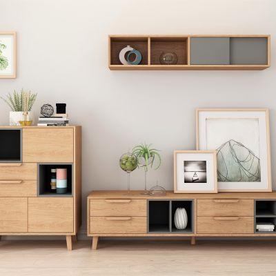 实木 电视柜 3D模型