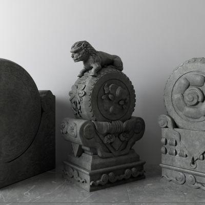 抱鼓石,石狮子,雕塑