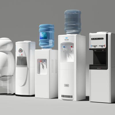 现代智能饮水机组合3d模型