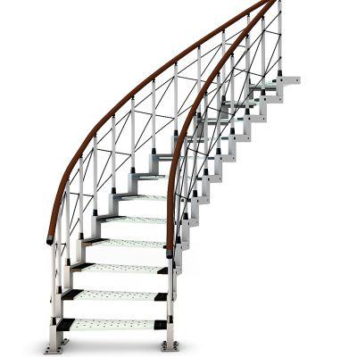 现代钢结构楼梯